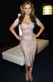 hourglass dress on a typical hourglass body curves ahead
