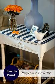 How To Paint A Table Paint Stripes On Table Top It All Started With Paint