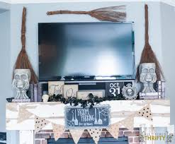 neutral halloween mantle ideas broom parking 25 cents all things