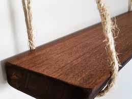 live edge shelf hanging shelf natural wood shelf mahogany