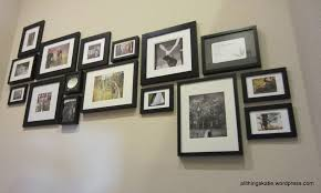 Ikea Wall Decor by Decorating Painted Blue Wooden Collage Picture Frames For Wall