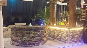 outdoor water features with lights fountain pond waterfall contractors kansas city area