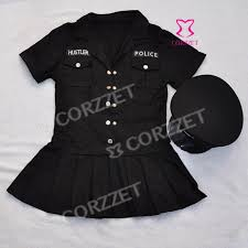 Size Halloween Costume Wholesale Black Police Halloween Costume Women Carnaval