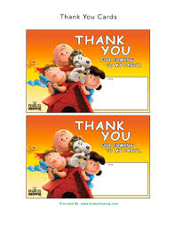 snoopy cards free the peanuts printable party decoration pack