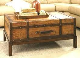 vintage trunk coffee table antique wooden trunk coffee table grousedays org