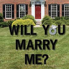 will you me yard sign outdoor lawn decorations marriage