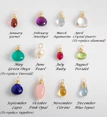 november birthstone topaz or citrine one tiny birthstone charm add a real gemstone birthstone to