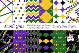 mardi gras paper mardi gras digital papers patterns creative market