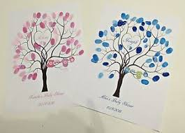 baby shower fingerprint tree personalised baby shower christening baptism fingerprint tree