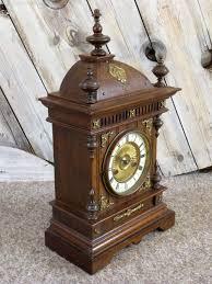 German Clocks Antiques Atlas German Oak Mantel Clock