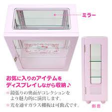 Showcase Glass Cabinet Hello Kitty Display Shelf Showcase Glass Cabinet Sanrio Japan