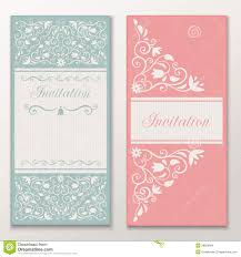 set of beautiful wedding invitations stock images image 29929694