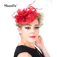 small fascinators for hair shanfu sinamay small hat fascinators with feather floral