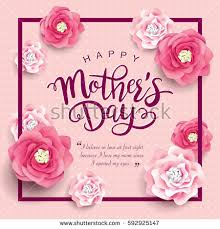 s day greeting cards mothers day greeting card beautiful blossom stock vector 592925147