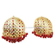 big stud earrings designer coral jadau beaded colored drops big stud earrings