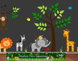 Jungle Wall Decal For Nursery Jungle Wall Stickers Etsy
