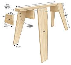 Folding Picnic Table Plans Pdf by Best 25 Sawhorse Plans Ideas On Pinterest Diy Sawhorse Folding