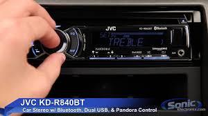 jvc kd r840bt car stereo w bluetooth u0026 dual usb connections youtube