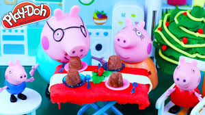 christmas with peppa pig christmas night delicious pudding toys