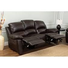 abbyson western top grain leather reclining sofa brown hayneedle