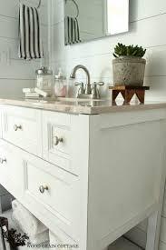 Bathroom Vanity Makeover Ideas by Powder Bathroom Vanity Makeover The Wood Grain Cottage