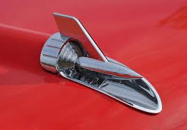 57 chevy rocket ornament photograph by bill cannon