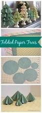festival of trees folded paper trees easy christmas decorations