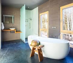 Rustic Bathroom Flooring 17 Concrete Bathroom Flooring Designs Ideas Design Trends