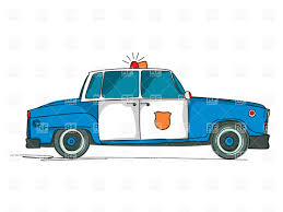 teal car clipart cartoon police car with flasher side view vector clipart image