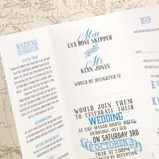 Wedding Invitations Information Vintage Tri Fold Wedding Invitation U2013 Love Wedding Print