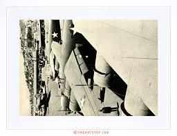 photo landmark eiffel tower paris france misty black white print