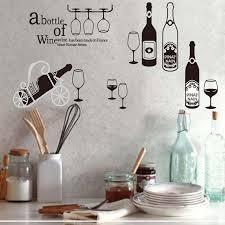 Creative red wine glass drinks wall sticker Bar restaurant coffee