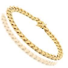 cuban link bracelet men images Solid yellow gold mens cuban link bracelet 8 5 quot 8 mm jpg
