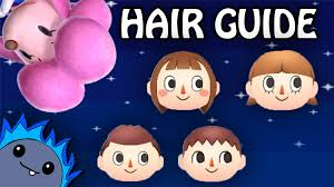 acnl hair hair guide animal crossing new leaf youtube