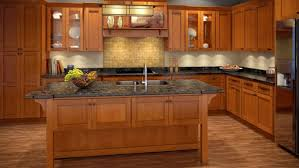 Bathroom Cherry Shaker Kitchen Cabinets Del - Cognac kitchen cabinets