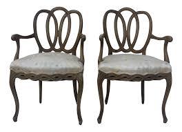 hollywood regency dorothy draper style arm chairs a pair chairish