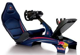 Racing Simulator Chair Playseat F1 Simulator Ups Realism With Bull Racing Graphics