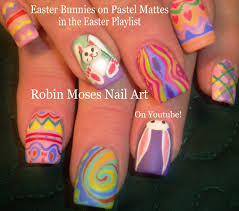 Easter Nail Decorations by Diy Easy Easter Nails Pastel Bunny Rabbit Spring Nail Design