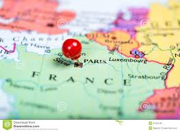 France On Map by Red Push Pin On Map Of France Stock Photo Image 47254799