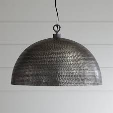 Iron Pendant Light Rodan Hammered Metal Pendant Light Crate And Barrel