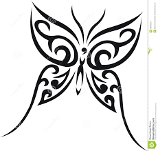 butterfly tribal tattoo stock vector image of tender 10048273