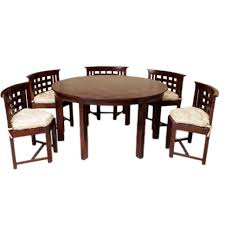 Dinner Table Set by Furniture Home Induscraft Designer Seater Round Dining Table Set