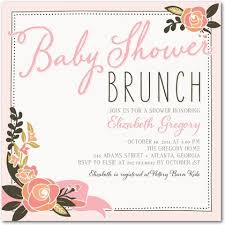 blooming brunch baby shower invitations magnolia press