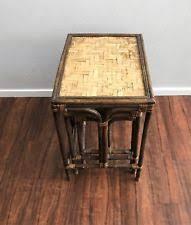 vintage rattan nesting tables bamboo nesting tables ebay