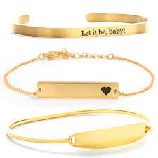 gold personalized bracelets custom bracelets personalized bracelets