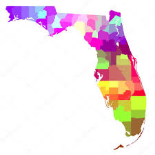 Counties Of Florida Map by Florida Map U2014 Stock Photo Art1o1 45942077