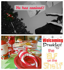 holiday welcoming breakfast for the elf on the shelf family