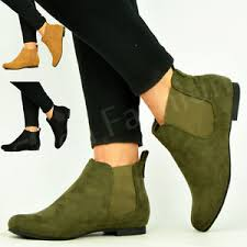 womens green boots uk womens pull on low heel chelsea ankle boots pixie smart