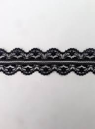 black lace trim white black scalloped poly lace trim 1 1 4 in l8 2a
