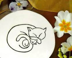 personalized ceramic plate custom made ceramic pottery one personalized cat name dish